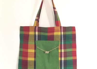 Tote bag madras cauris