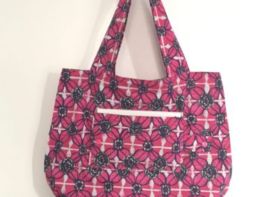 Tote bag printemps fuchsia
